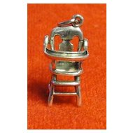 Vintage Beau Sterling Mechanical High Chair Charm