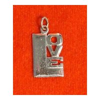 Vintage 1970's Sterling Silver Love Charm