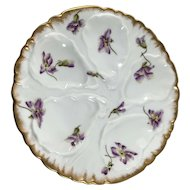 Haviland Limoges Five Well Oyster Plate