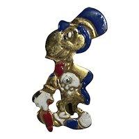 Rare 1940's Disney Jiminy Cricket Pin