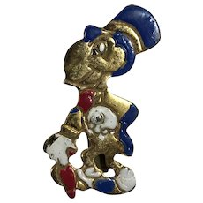 Rare 1940's Disney Jiminy Cricket Pin