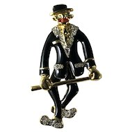 Vintage Black Memorabilia Jazz Tap Dancer Mechanical Pin