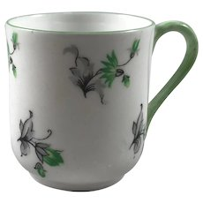 Miniature Green and Gray Floral Shelley Tea Cup