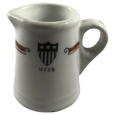 US Shipping Board 1920s China Creamer Marked USSB