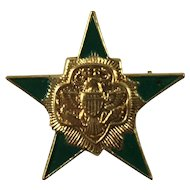 Girl Scout Five Point Star Pin 1955 - 1963