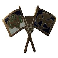 Girl Scout Tiny Flag World Friendship Pin 1950's