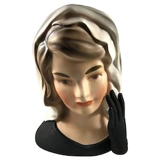 Mourning Jackie Kennedy Head Vase Inarco E1852 1964