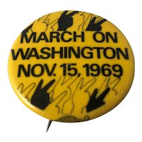 1969 March on Washington Anti Vietnam Peace Protest Pin