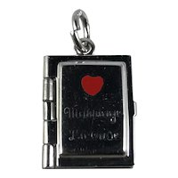 Sterling Silver Mechanical Marriage License Charm or Locket