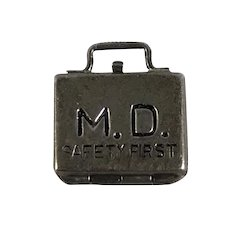 Sterling Silver Doctor's Medical Bag Charm - Safety First