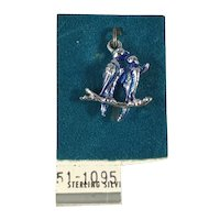 New Old Stock Sterling Silver Love Birds Charm