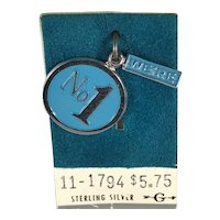 Sterling Silver We're No 1 Charm on Original Card