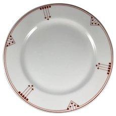 Syracuse China Arrow Pattern Plate 8 Inch