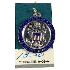 New Old Stock Sterling Silver Bicentennial Charm