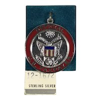 Sterling Silver Official U.S. Taxpayer Charm on Original Card