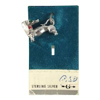 New Old Stock Sterling Silver Dachshund Dog Charm
