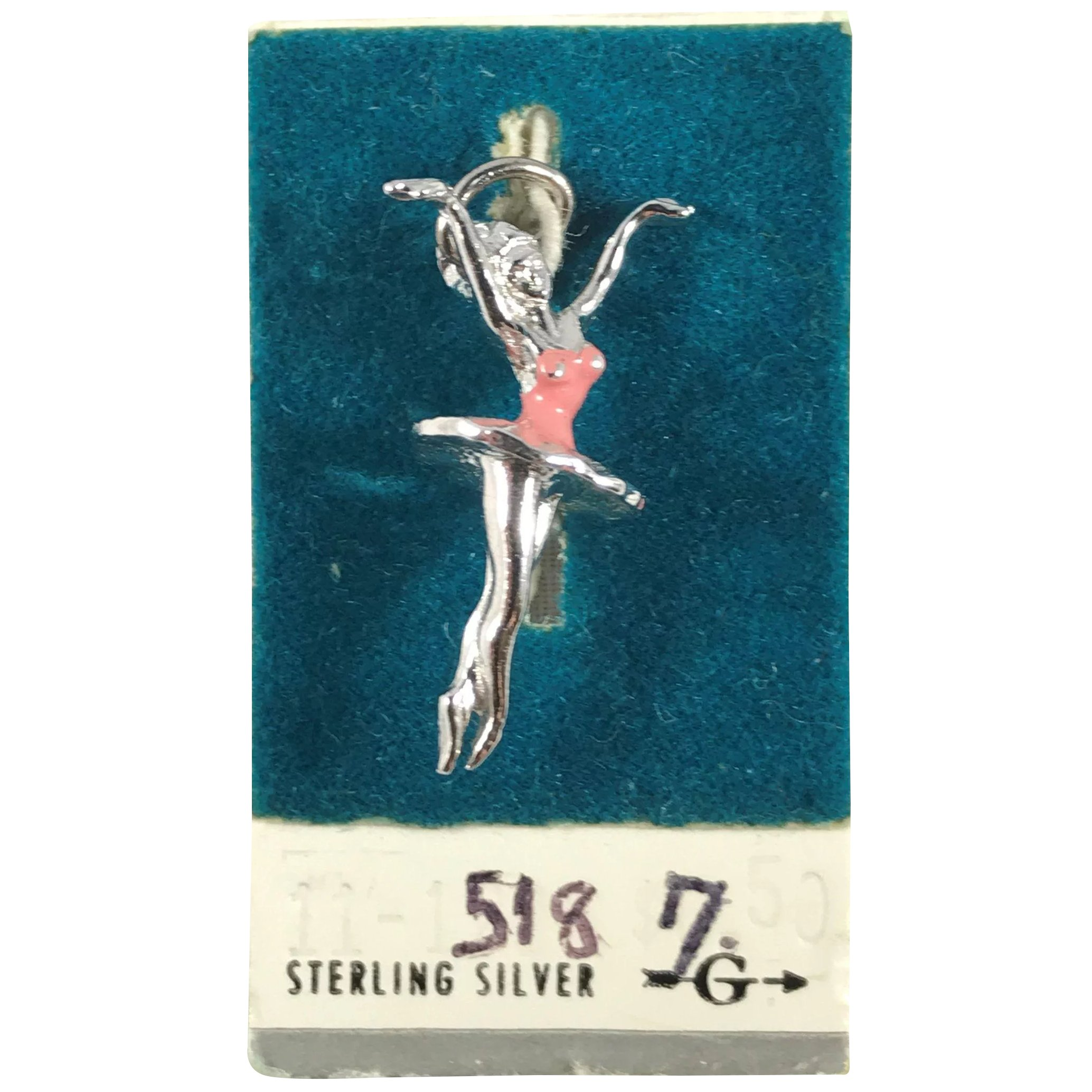 Sterling Silver Antiqued Ballerina Charm