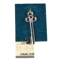 Sterling Silver Key to Success Charm on Original Card