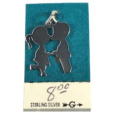 Sterling Silver Boy and Girl Kissing Charm