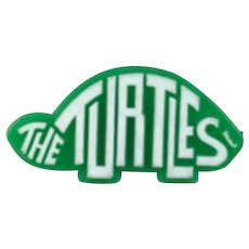 The Turtles Green and White Plastic Promo Button Pin