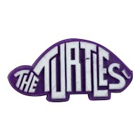 The Turtles Purple and White Plastic Promo Button Pin