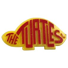 The Turtles Yellow and Red Plastic Promo Button Pin