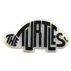 The Turtles White and Black Plastic Promo Button Pin