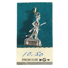 Sterling Silver 3D Minuteman Statue Concord New Hampshire Charm