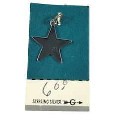 New Old Stock Sterling Silver Five Point Star Charm