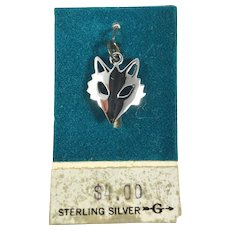 New Old Stock Sterling Silver Fox Head Charm