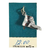 New Old Stock Sterling Silver 3D Baby Shoe Charm