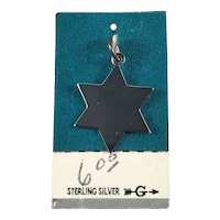 New Old Stock Six Point Sterling Silver Star Charm