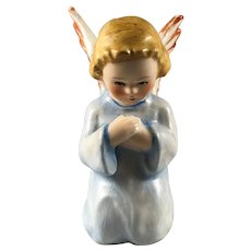 Small Kneeling Goebel Praying Angel in Blue