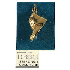 New Old Stock 3D Sterling Silver and Gold Vermeil Baby Shoe Charm