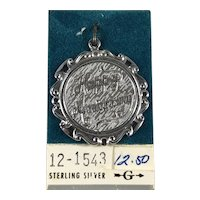 New Old Stock Sterling Silver Happy Anniversary Disc Charm