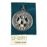 New Old Stock Sterling Silver Happy Anniversary Charm
