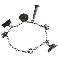 Petite Sterling Silver Washington DC Charm Bracelet