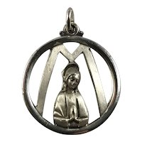 Sterling Silver Creed Mother Mary Pendant