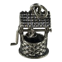 Beau Sterling Silver Mechanical Wishing Well Charm