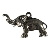 Sterling Silver Three Dimensional Elephant Charm