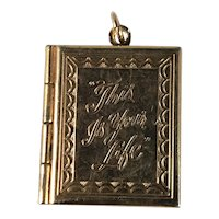 Vintage Goldtone This Is Your Life Locket Pendant