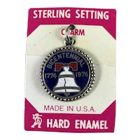 Sterling Silver Bicentennial Liberty Bell Charm on Original Card