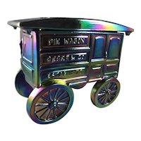 Fenton Amethyst Carnival Glass Pie Wagon Limited Edition