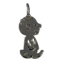 Vintage Sterling Silver Charlie Brown Peanuts Pendant