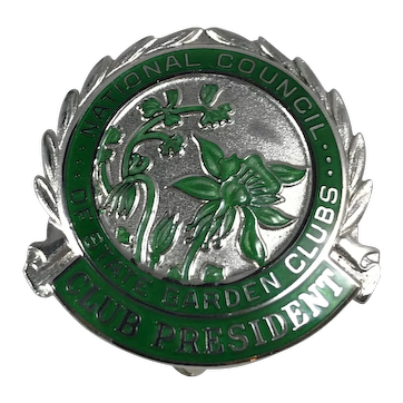 Sterling Silver National Garden Club President Pin