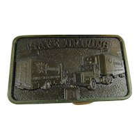 Borden Dairy Safe Driving Belt Buckle New Old Stock Jostens