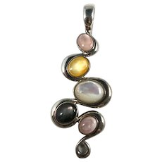 Carolyn Pollack Sterling Silver Mother of Pearl Pendant