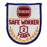 Borden Dairy 2 Year Safe Worker Patch
