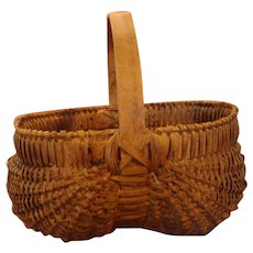 Desirable older melon basket from Connecticut home, nice rich patina.