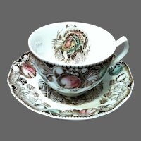 Vintage Johnson Brothers His Majesty Cup & Saucer